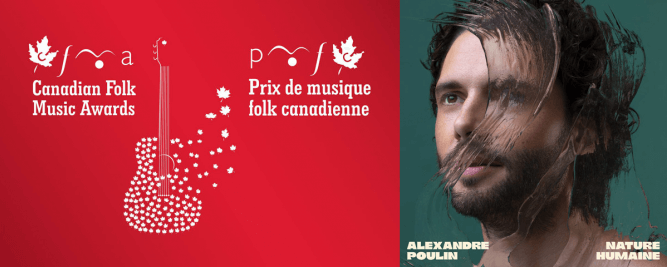 Alexandre Poulin décroche une nomination aux Canadian Folk Music Awards 2021
